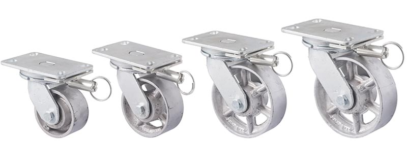 X series forks: Plate with swivel and direction lock
