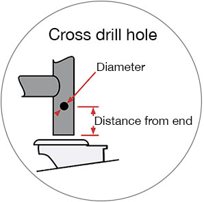 Cross drill hole diagram