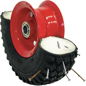 Puncture-proof pneumatic wheels